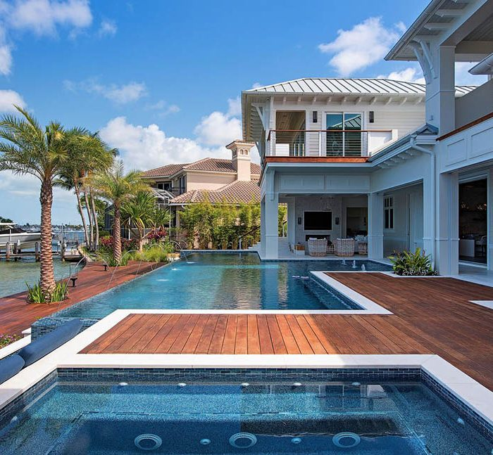 Pool with Wooden Deck | ALD Architectural Land Design Incorporated